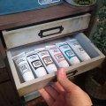 100均ミニチェストをDIY! セリアの板と木箱でアンティーク風ミニチェストを作ろう!