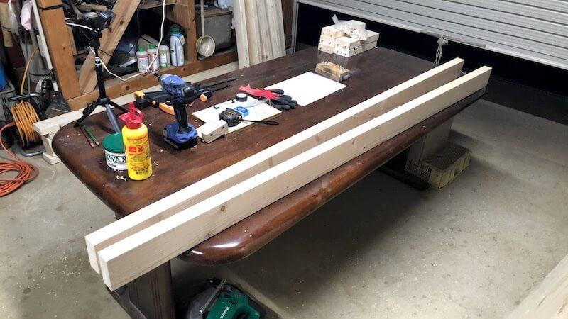 男前学習机をDIY 材料 部材加工1