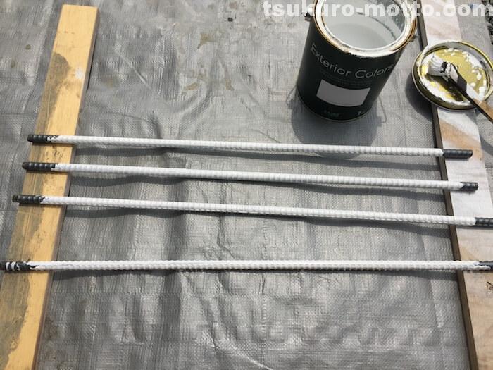 外水道リメイクDIY 鉄筋塗装2