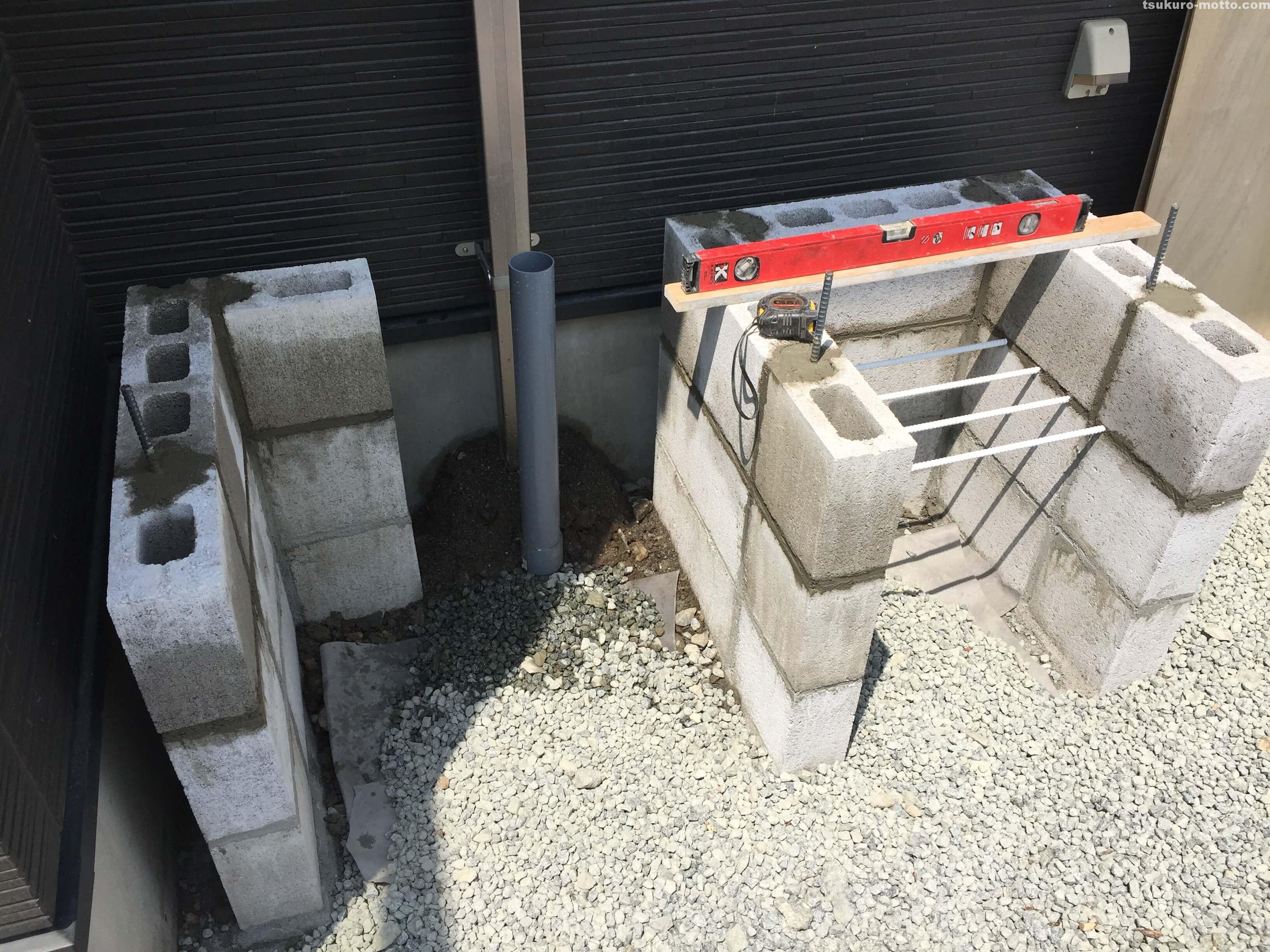 外水道リメイクDIY 木枠製作1