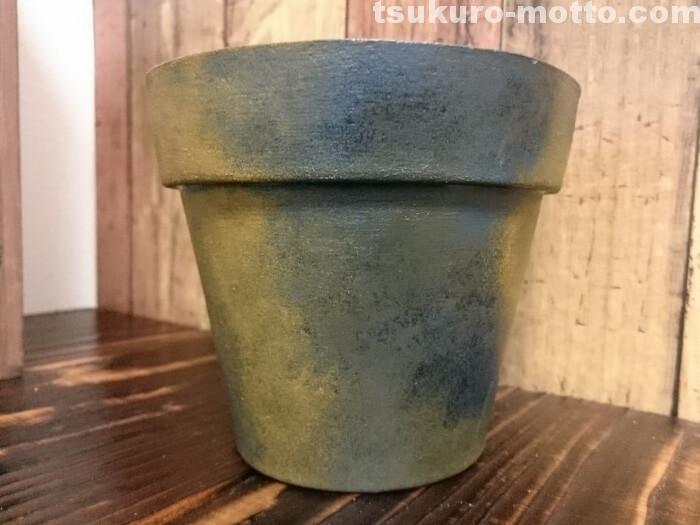 焼き物風鉢の塗装完了