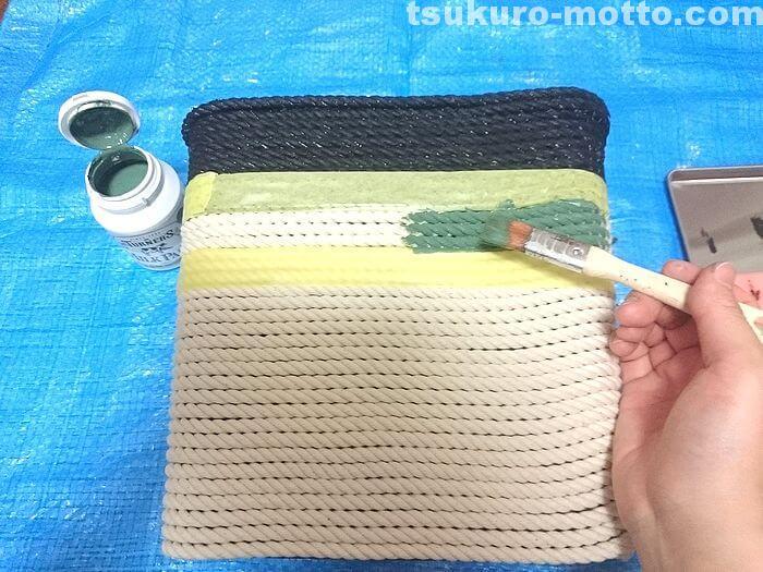 ロープの塗装2