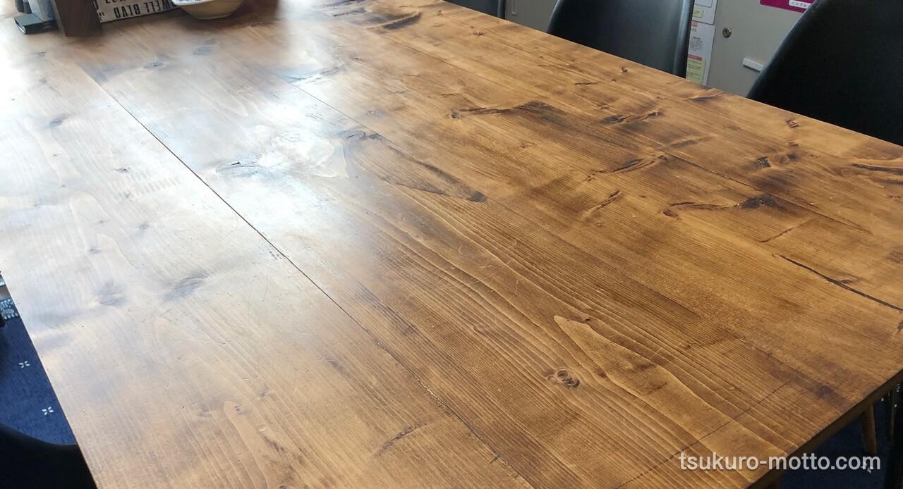 天板の曲がりを矯正
