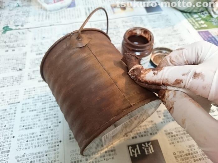 全面錆塗装の工程4