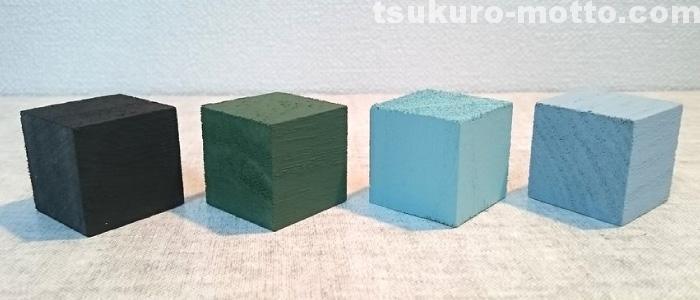 セリア水性塗料1色合い