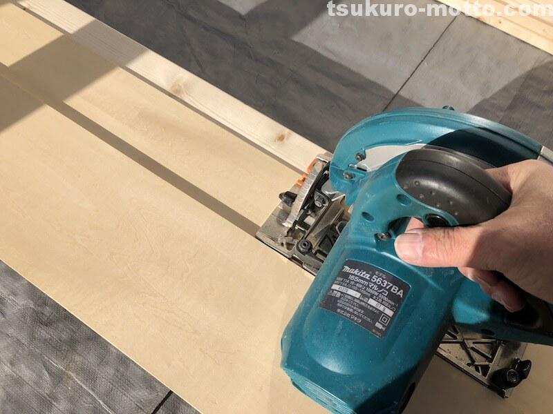 シャビーダイニングテーブルDIY 天板裏部材2