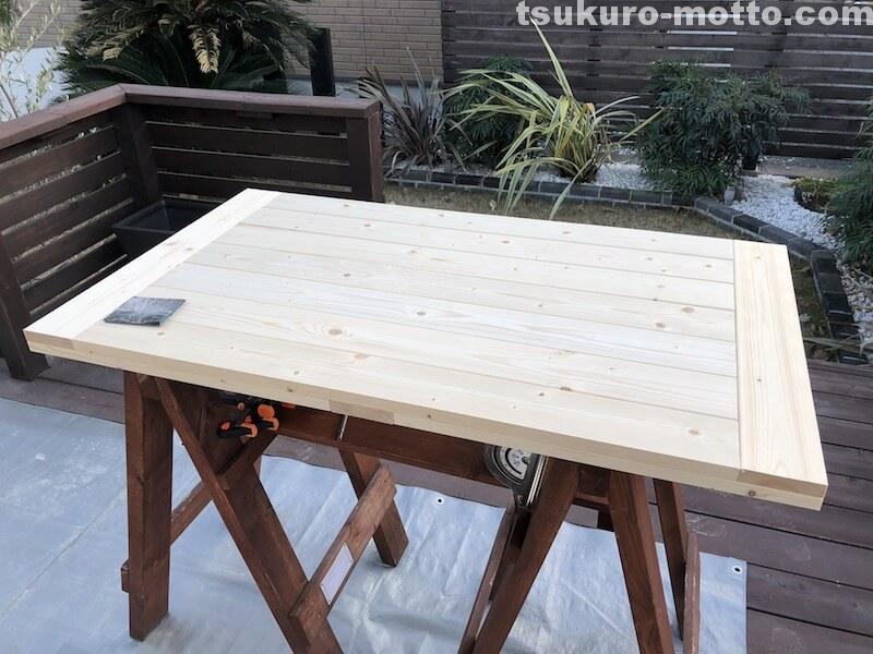 シャビーダイニングテーブル 天板完成