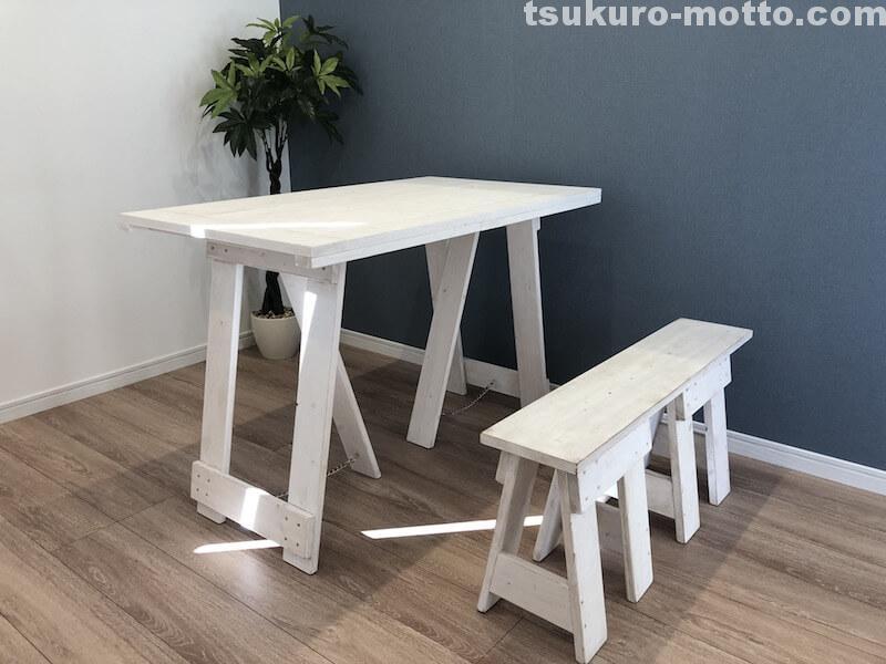 シャビーダイニングテーブルDIY 完成3