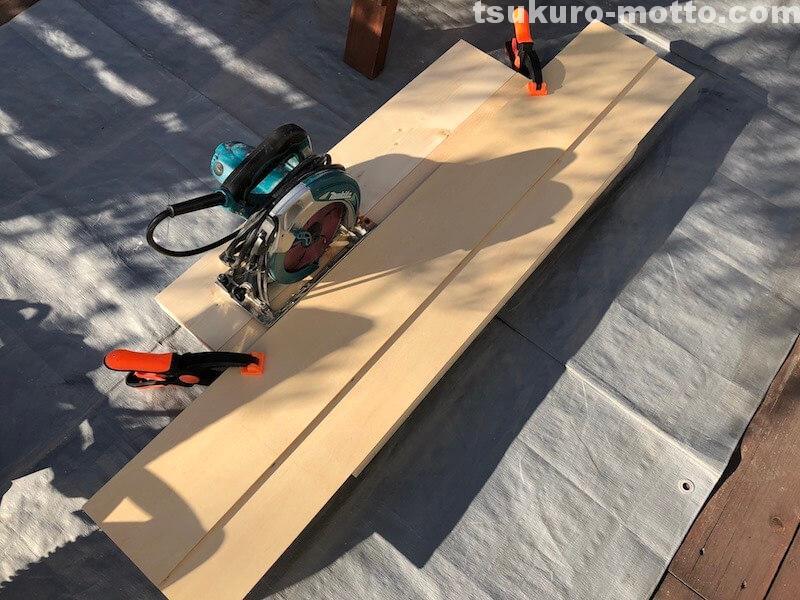 シャビーリビングテーブル 天板の製作5