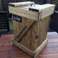 【木箱DIY】SPF材で作るミリタリー木箱風燻製ボックス(スモーカー)/図面あり