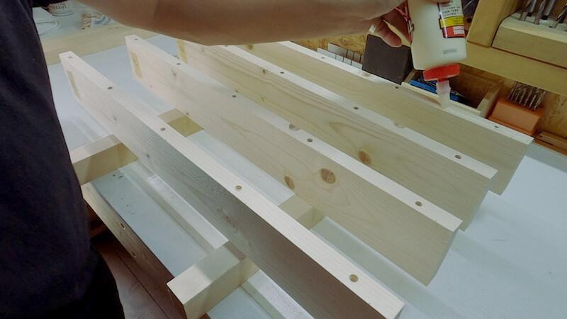 SPFテーブル天板製作9