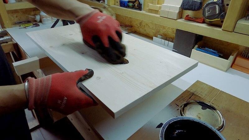 SPFテーブル天板製作18