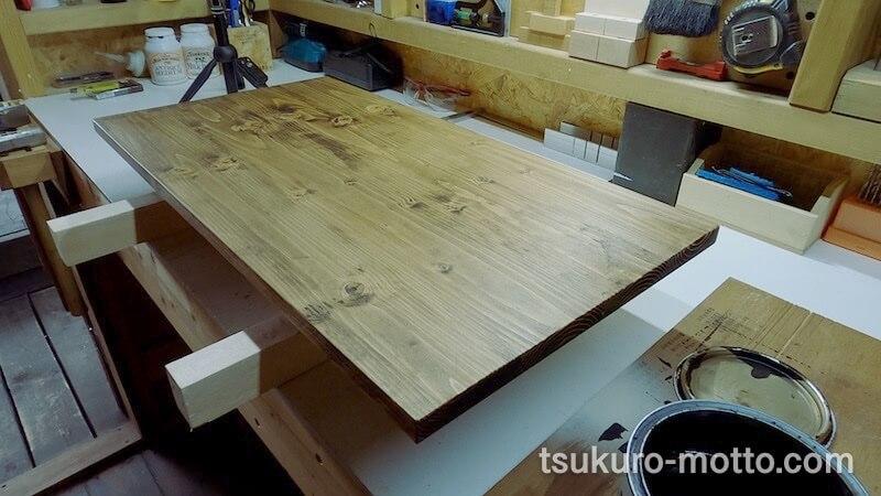 SPFテーブル天板製作19