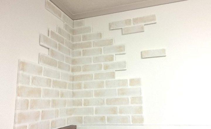 【100均DIY】発泡スチロールとリメイクシートを使ったレンガ壁の作り方サムネイル