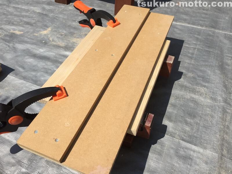 ゴミ箱DIY 板幅カット2