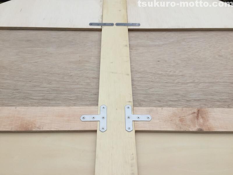 トランク中敷棚DIY 骨組みの補強3