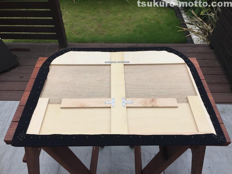 トランク中敷棚DIY 内装布張り10