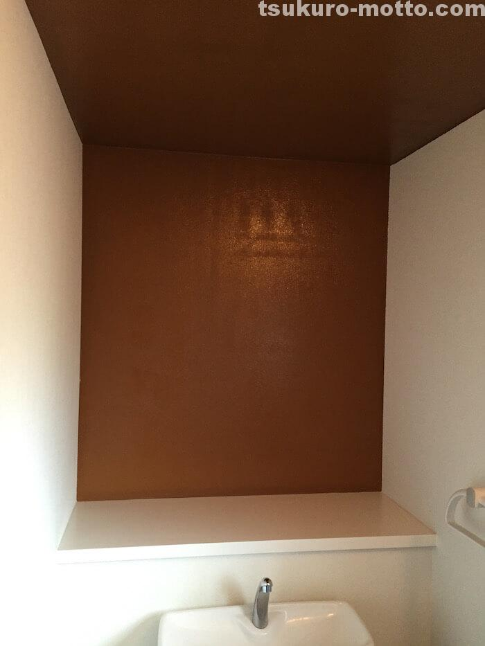 壁ペイントDIY 塗装完了2