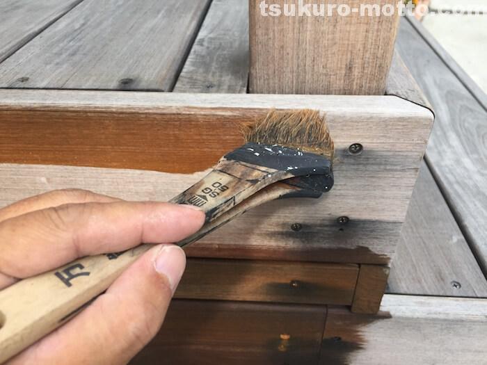 ウッドデッキ塗装メンテ