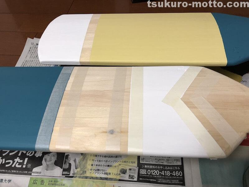 ディスプレイ用パドルDIY 塗装6