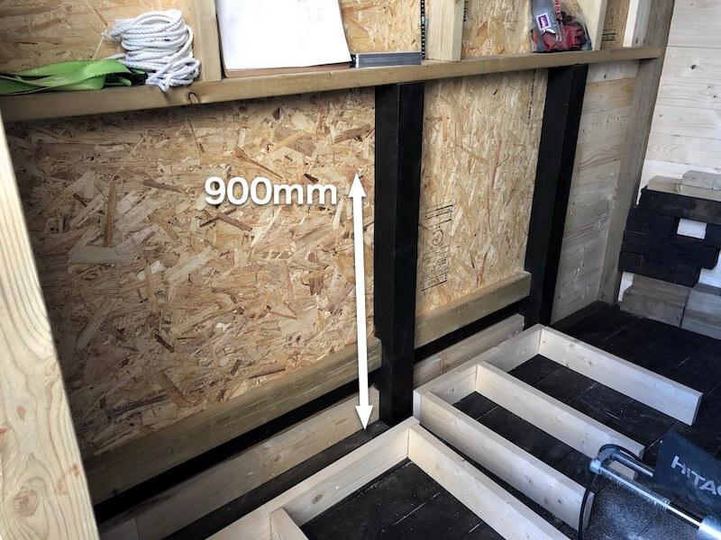 DIY工房製作 作業テーブル1