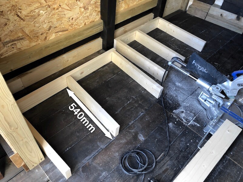 DIY工房製作 作業テーブル2