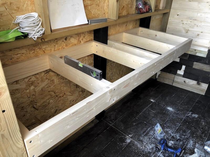 DIY工房製作 作業テーブル6