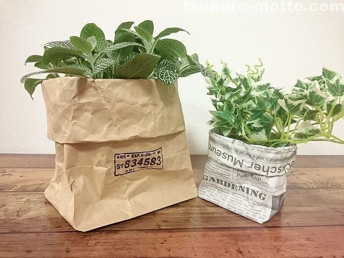 包装紙鉢カバー2
